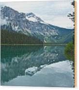 Morning Reflection In Emerald Lake In Yoho National Park-british Columbia-canada Wood Print