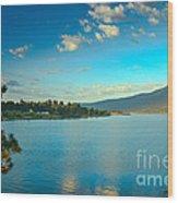 Morning Reflections On Lake Cascade Wood Print
