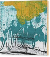 Morning Ride Wood Print