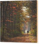 Morning Run Wood Print