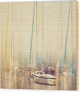Morning Sail Wood Print by Amy Weiss