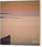 Morning Sea Smoke Wood Print