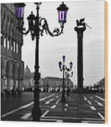 Morning - St. Mark's Square Wood Print