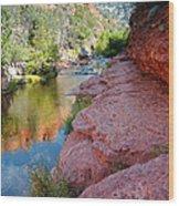 Morning Sun On Oak Creek - Slide Rock State Park Sedona Arizona Wood Print