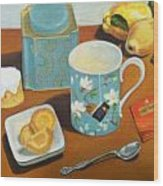 Morning Tea Wood Print