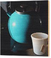 Morning Tea Two Wood Print