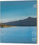 Morning View Of Cascade Reservoir  Wood Print