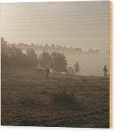 Morningmist Wood Print
