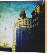 Morningside Heights Blue Wood Print
