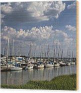 Morningstar Marina Boat Harbor Georgia Wood Print