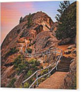 Moro Rock Path Wood Print