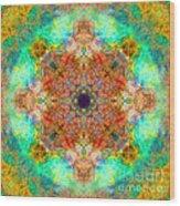 Moroccan Sun Mandala Wood Print