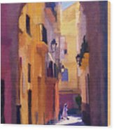Moroccan Light Wood Print by Bob Galka