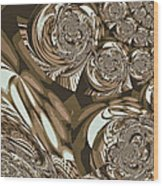 Moroccan Lights - Brown Wood Print