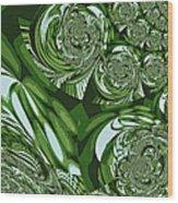 Moroccan Lights - Green Wood Print