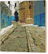Moroccan Road Wood Print