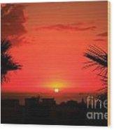 Moroccan Sunset Wood Print