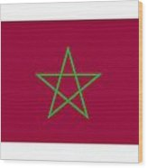 Morocco Flag Wood Print