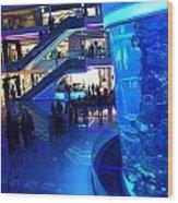 Morocco Mall Blue Wood Print