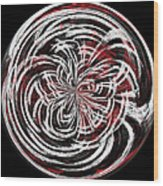 Morphed Art Globe 15 Wood Print
