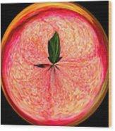 Morphed Art Globe 23 Wood Print by Rhonda Barrett