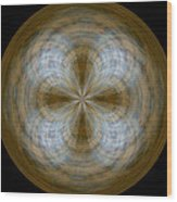 Morphed Art Globe 24 Wood Print by Rhonda Barrett