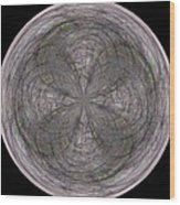 Morphed Art Globe 26 Wood Print