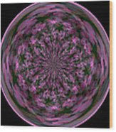 Morphed Art Globe 28 Wood Print