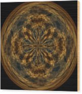Morphed Art Globe 29 Wood Print