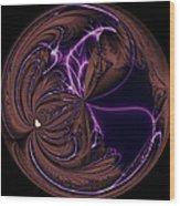 Morphed Art Globe 39 Wood Print by Rhonda Barrett