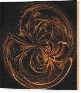 Morphed Art Globe 40 Wood Print