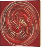 Morphed Art Globe 41 Wood Print