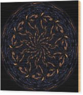 Morphed Art Globes 14 Wood Print by Rhonda Barrett