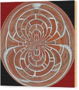 Morphed Art Globes 17 Wood Print by Rhonda Barrett