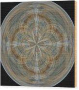 Morphed Art Globes 25 Wood Print by Rhonda Barrett
