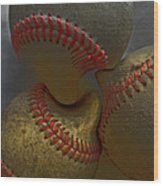 Morphing Baseballs Wood Print by Bill Owen