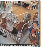 Morris Major 6 - Vintage Car Poster Wood Print