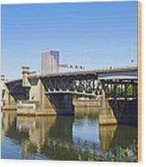 Morrison Bridge Portland Oregon Wood Print