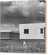 Morrison Cloud Bw Palm Springs Wood Print