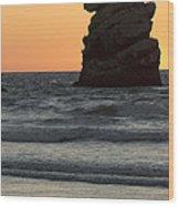 Morro Beach Sunset Wood Print