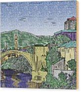Morstar Bridge Colored Wood Print