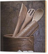 Mortar And Pestle Still Life II Wood Print