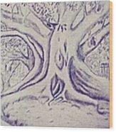 Morton Bay Tree Wood Print