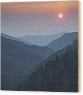Morton Overlook Sunset Wood Print