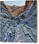 Mosaic Canyon In Death Valley Wood Print