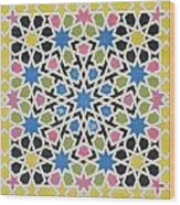 Mosaic Design From The Alhambra Wood Print by James Cavanagh Murphy