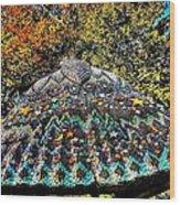 Mosaic Fly Wood Print