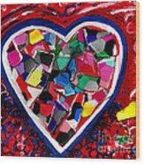Mosaic Heart Wood Print