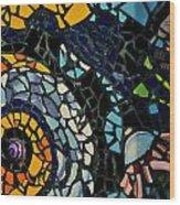 Mosaic Pattern On Wall Wood Print