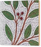 Mosaic Picture Of Tree Branch  Wood Print